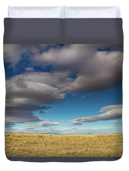 Clouds In Fields Oregon Duvet Cover