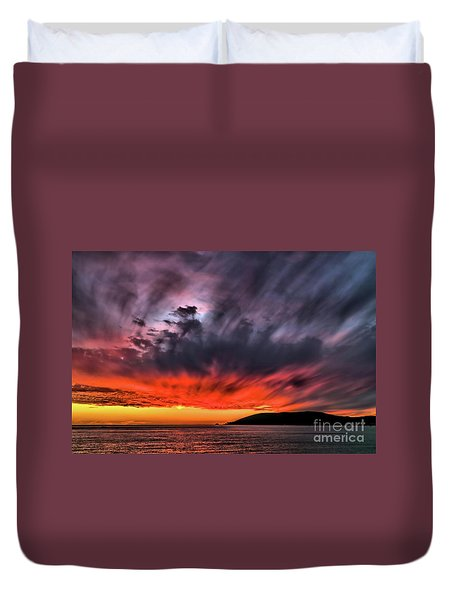 Clouds In Motion Before The Storm Duvet Cover by Vivian Krug Cotton