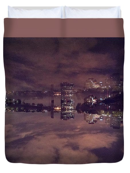 Clouds In The Passaic - Newark Nj Duvet Cover