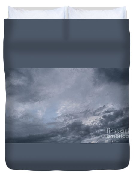 Duvet Cover featuring the photograph Clouds by Megan Dirsa-DuBois