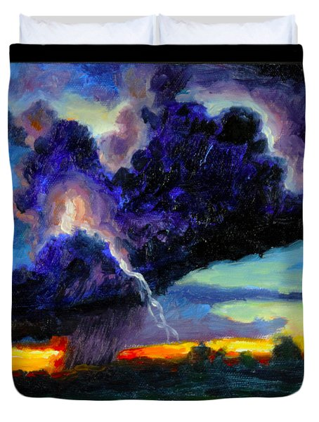 Clouds Number Six Duvet Cover by John Lautermilch