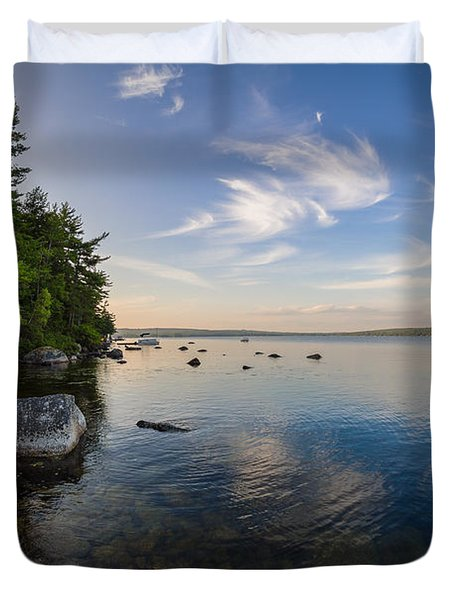 Clouds Over Branch Lake Duvet Cover