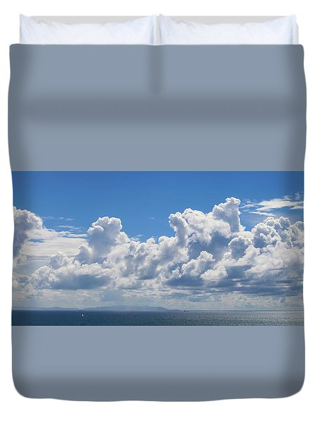 Clouds Over Catalina Island - Panorama Duvet Cover