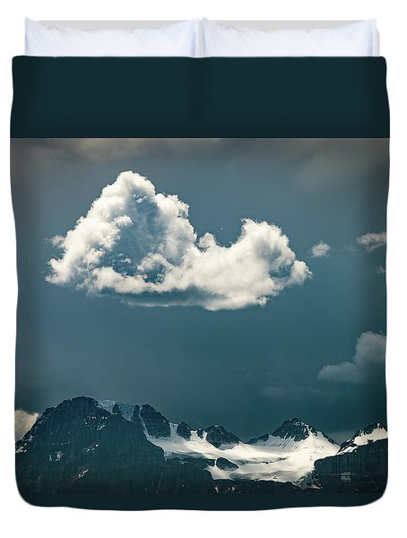 Duvet Cover featuring the photograph Clouds Over Glacier, Banff Np by William Lee