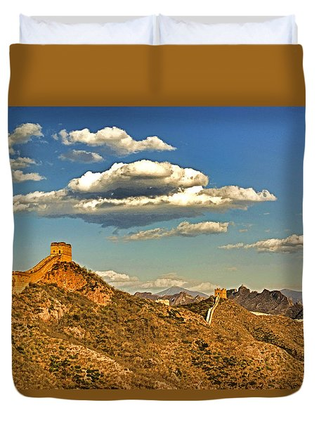 Clouds Over Great Wall Duvet Cover