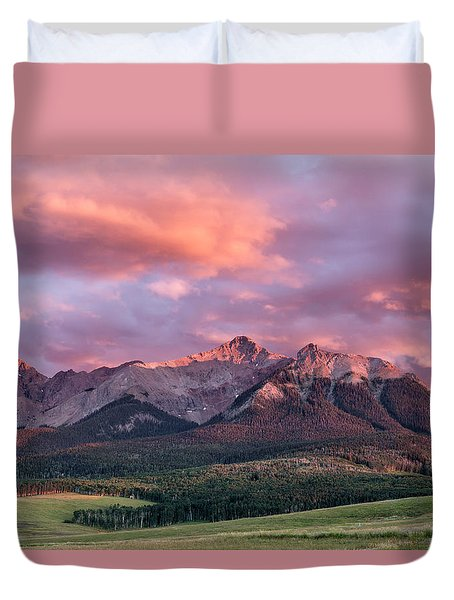 Clouds Over Hayden At Sunset Duvet Cover
