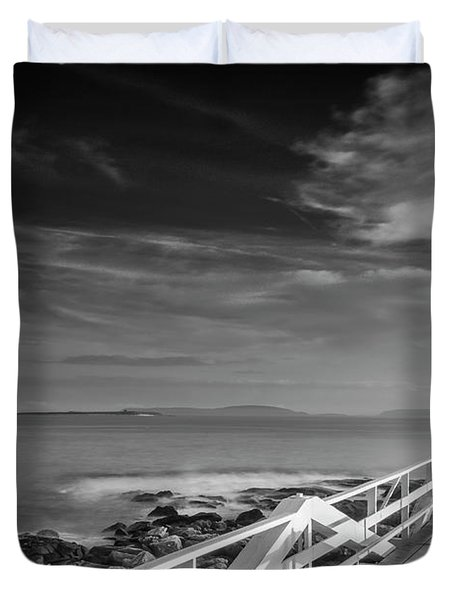 Clouds Over Marshall Point Lighthouse In Maine Duvet Cover