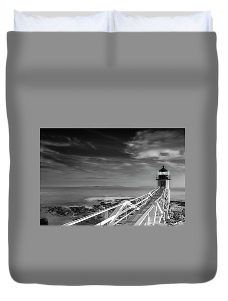 Duvet Cover featuring the photograph Clouds Over Marshall Point Lighthouse In Maine by Ranjay Mitra