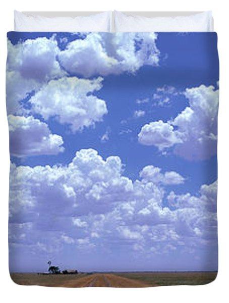 Clouds Over Prairie Amarillo Tx Duvet Cover