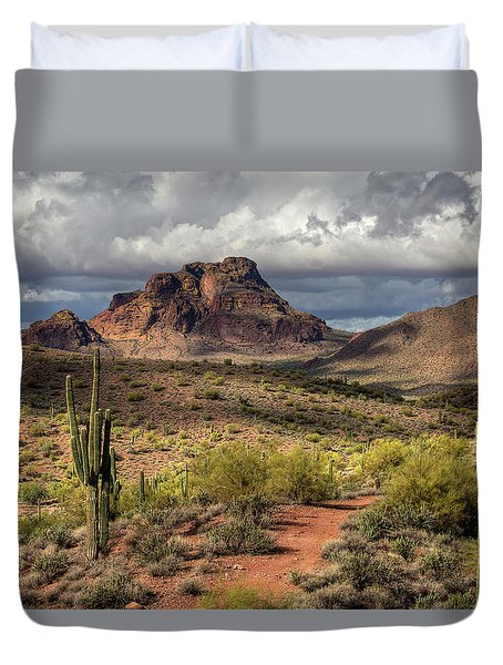 Clouds Over Red Mountain Duvet Cover