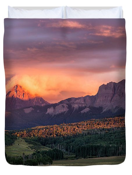 Clouds Over Sneffels At Sunset Duvet Cover