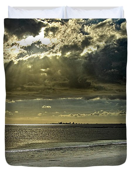 Clouds Over The Bay Duvet Cover by Christopher Holmes