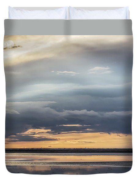 Duvet Cover featuring the photograph Clouds Over The Bottoms by Rob Graham