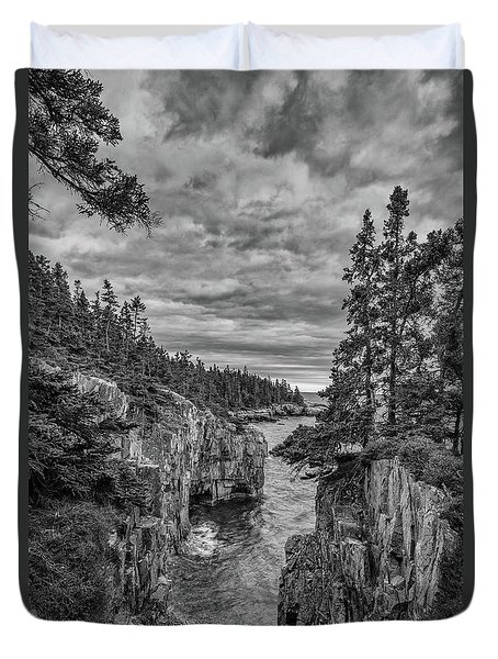 Clouds Over The Cliffs Duvet Cover