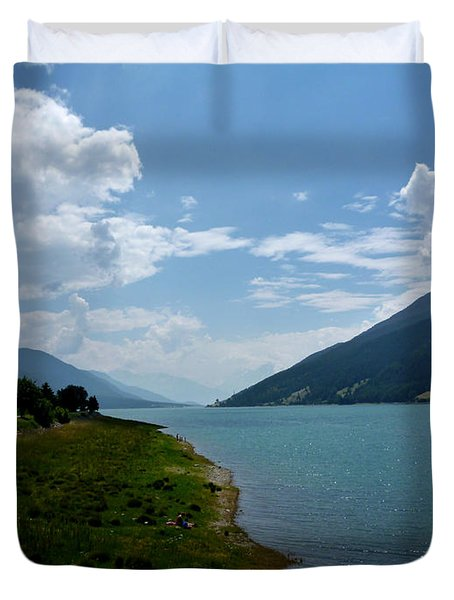 Clouds Over The Lake Duvet Cover