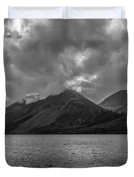 Clouds Over Loch Lochy, Scotland Duvet Cover