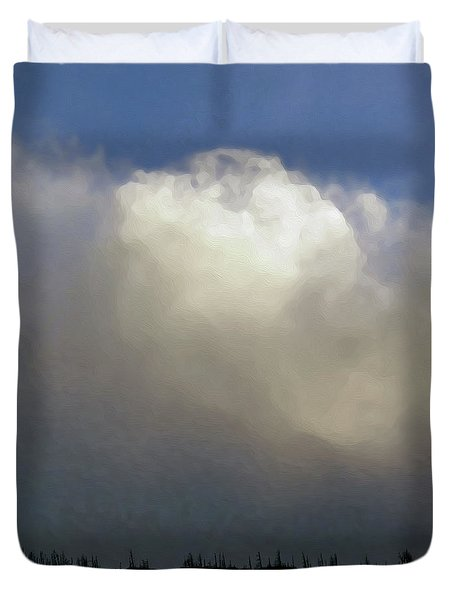 Clouds Over The Ridge Duvet Cover by Agustin Goba