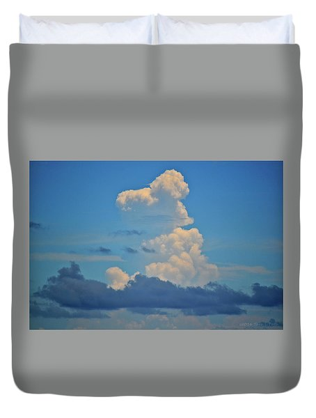 Clouds Over Tybee Island Duvet Cover