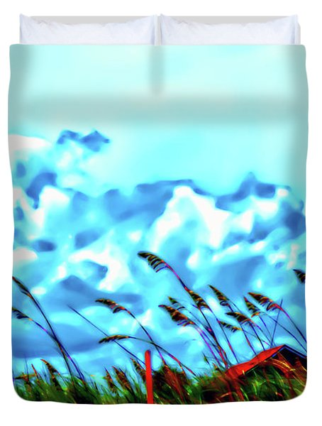 Clouds Over Vilano Beach Duvet Cover
