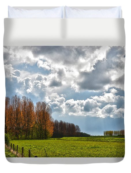 Clouds Over Voorne Duvet Cover