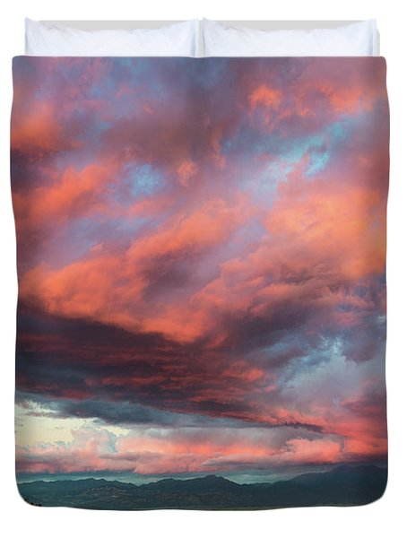 Clouds Over Warner Springs Duvet Cover