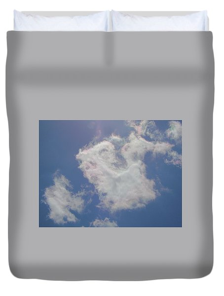 Clouds Rainbow Reflections Duvet Cover by Cindy Croal