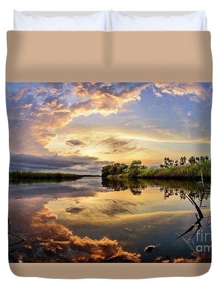 Clouds Reflections Duvet Cover