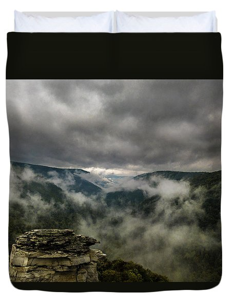 Clouds Rising At Lindy Point Duvet Cover