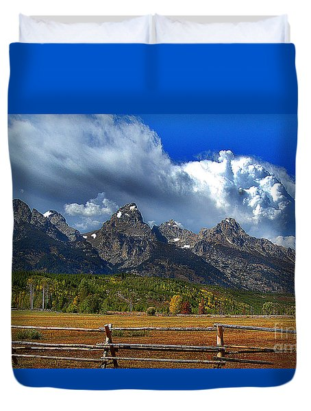 Clouds Rising Duvet Cover by Diane E Berry