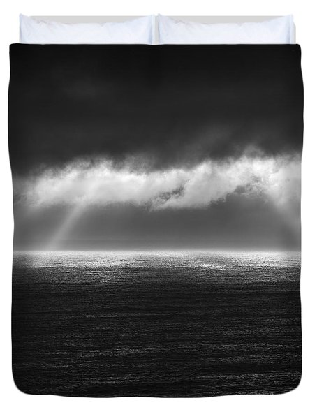 Cloudy Day At The Sae Duvet Cover
