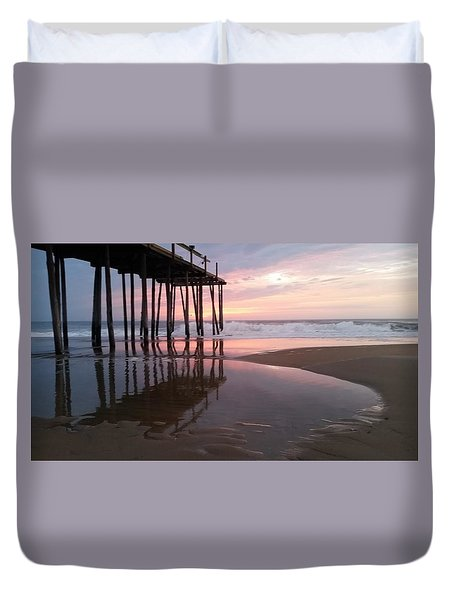 Cloudy Morning Reflections Duvet Cover