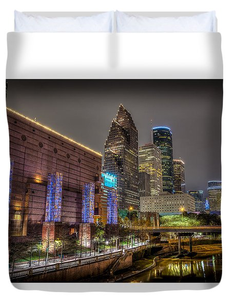 Cloudy Night In Houston Duvet Cover