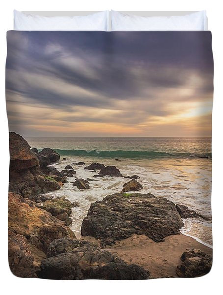 Cloudy Point Dume Sunset Duvet Cover