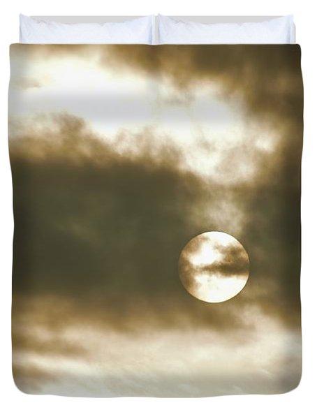 Cloudy Sun Duvet Cover