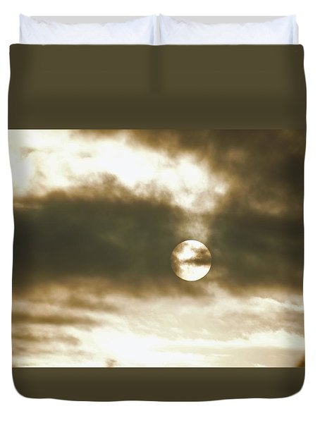 Cloudy Sun Duvet Cover