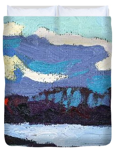 Cloudy Sunset Duvet Cover by Phil Chadwick