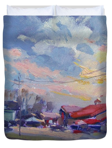 Cloudy Sunset Duvet Cover