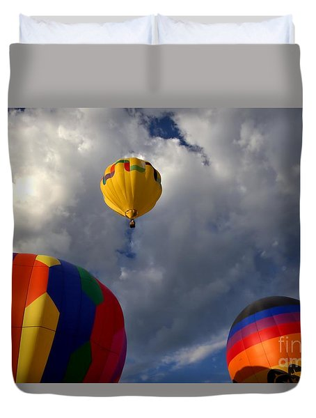 Cloudy With Baloons Duvet Cover