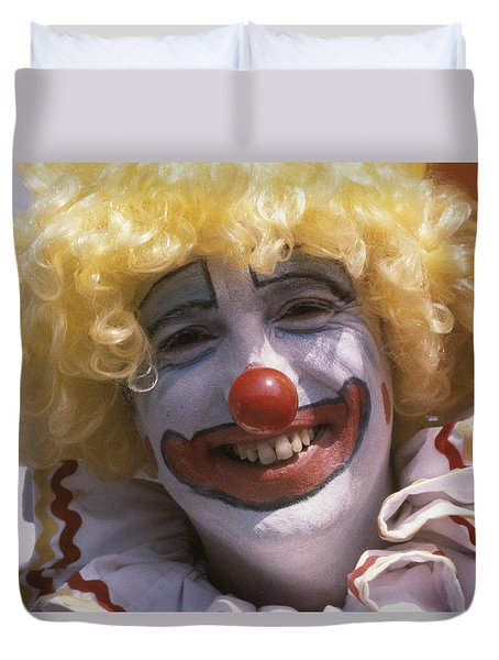 Duvet Cover featuring the photograph Clown-1 by Donald Paczynski