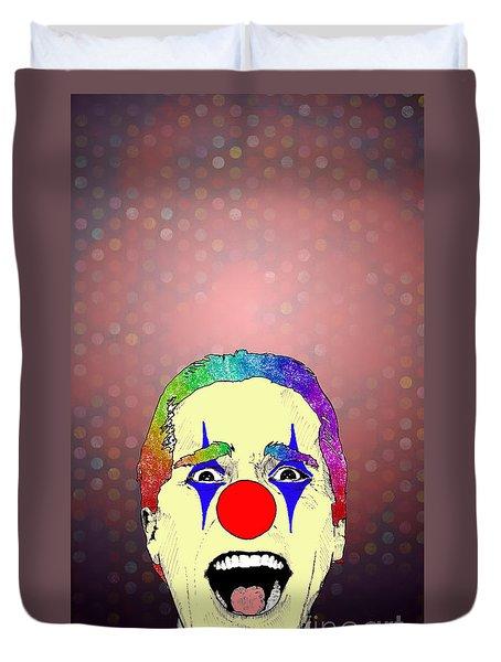 clown Christian Bale Duvet Cover