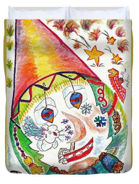 Clown Dans La Tourmente / Clown In Storm Duvet Cover