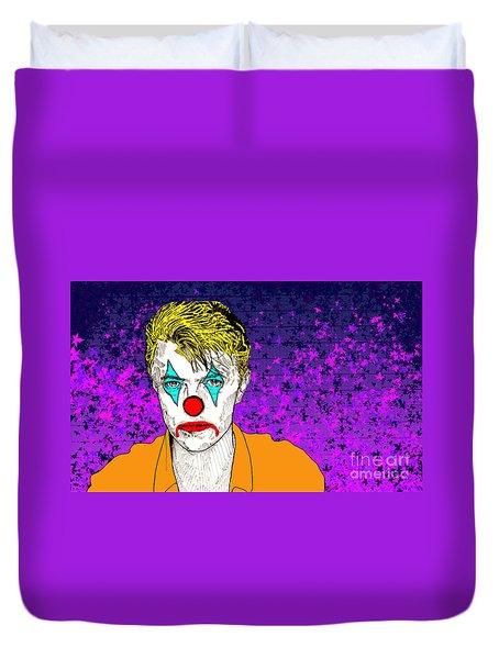 Clown David Bowie Duvet Cover