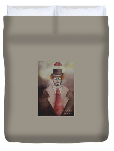 Clown Duvet Cover by Marlene Book