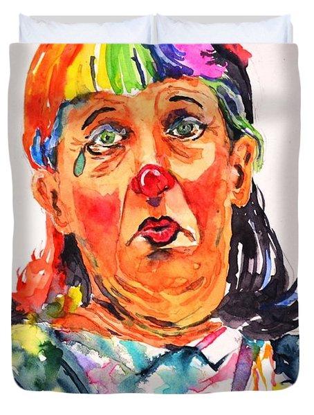 Clown Series Oh No  Duvet Cover