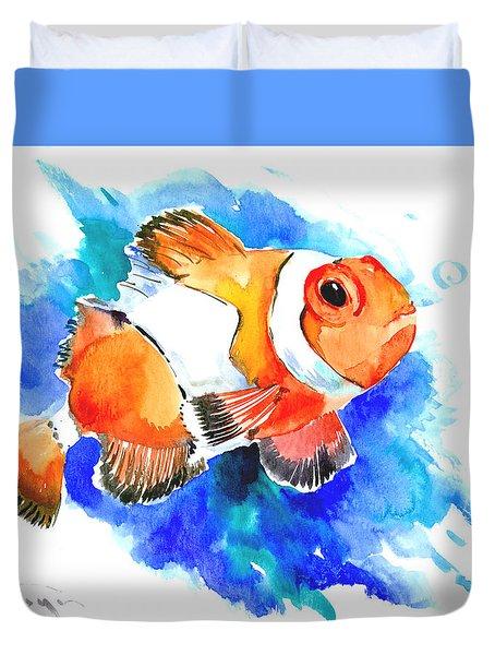 Clownfish Duvet Cover by Suren Nersisyan
