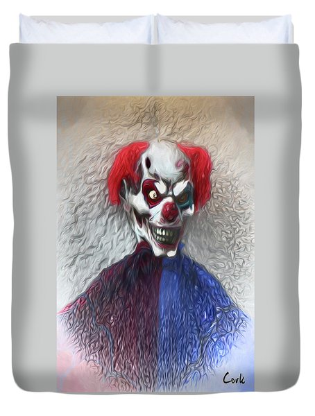 Clownitis Duvet Cover by Terry Cork