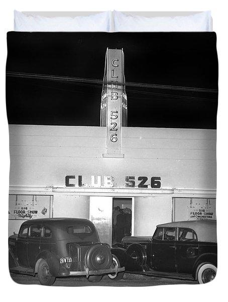 Club 526  Henry Franci, Salinas 1941 Duvet Cover