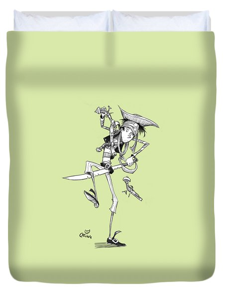 Clumsy Pirate Duvet Cover