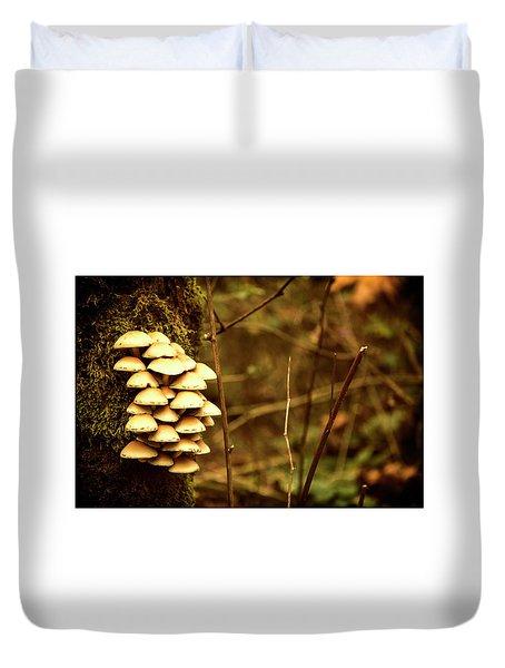 Cluster O Shrooms Duvet Cover
