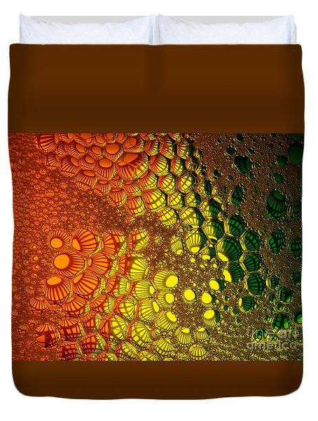 Clusters Duvet Cover by Trena Mara